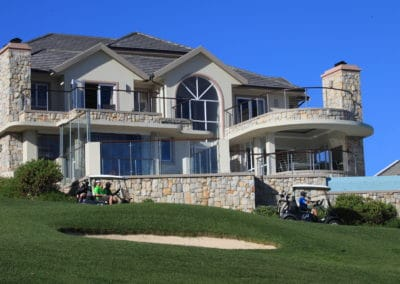 House overlooking the course